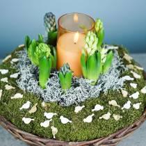 LED-Kerze im Glas Echtwachs Orange Ø10cm H15cm