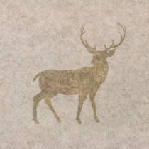 Tischläufer Filz Hirsch Natur 30cm x 120cm