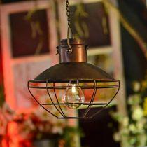LED-Hängelampe, Pendelleuchte Rustikal, Solarbetrieben Ø24,5cm H24cm