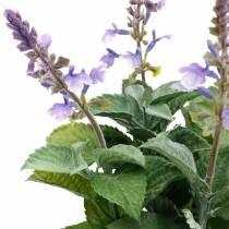 Künstlicher Lavendel im Topf, Lavendeltopf, Mediterrane Kunstpflanze
