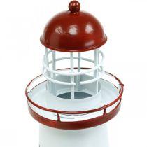 Leuchtturm Rot Maritime Deko Metall Sommerdeko