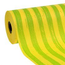 Manschettenpapier 25cm Streifen Gelb-Grün 100m
