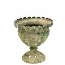 Deko-Pokal Antikoptik Metall Moosgrün Ø13cm H14,5cm