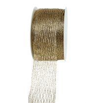 Netzband Gold drahtverstärkt 40mm 15m