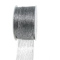 Netzband Silber drahtverstärkt 40mm 15m