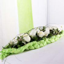 Steckschaum Ziegel Tischdekoration Grün 22cm x 7cm x 5cm 10St