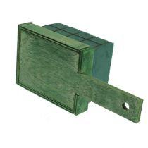Steckschaum Ziegel mit Holzunterlage 21cm x 9cm x 8cm 8St