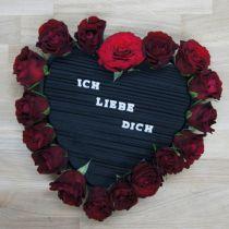 Steckmasse Herz Steckschaum Schwarz 33cm 2St Hochzeitsdeko