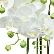Künstliche Orchideen im Topf Weiß Kunstpflanze 63cm