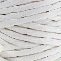 Papierkordel 6mm 23m Weiß