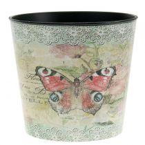 Dekotopf Vintage Schmetterling Ø17cm