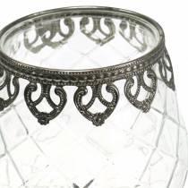Windlichtglas Pokal Antik Ø13cm H18,5cm