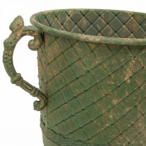 Metall-Kelch zum Bepflanzen, Pokal mit Henkeln, Pflanzgefäß Ø25cm H43cm