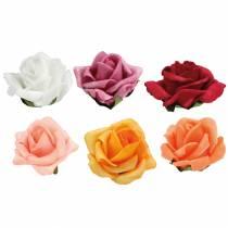Foam-Rose Ø4,5cm verschiedene Farben 36St