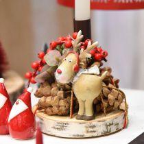 Deko Figur Rentier Weihnachten mit Schal 7×4,5×12cm 4St