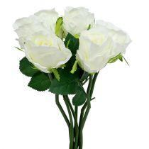 Rose Weiß Ø6cm L30cm 6St