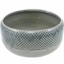 Keramikgefäß, Schale mit Korbmuster, Pflanzschale rund Ø18cm