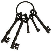 Schlüsselbund mit Metallring Braun 7cm - 15,5cm