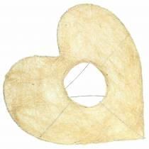 Sisalmanschette Herz Gebleicht 25,5cm 10St