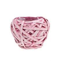 Spankorb rund Ø15cm H14cm Pink