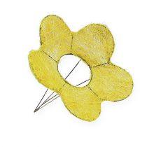 Sisalmanschette Gelb Ø20cm Blumenmanschette 8St