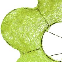 Sisal-Manschette Blume Grün Ø25cm 6St