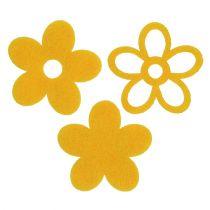Streu-Deko Filzblume Gelb sortiert 4cm 72St