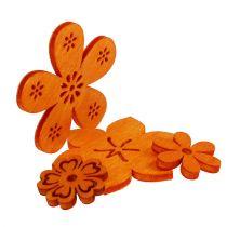 Streudeko Holzblume Orange 2cm - 4cm 96St