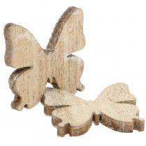 Streudeko Schmetterling Holz Natur 2cm 144St