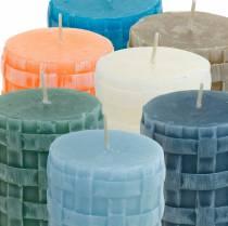 Stumpenkerzen Rustic 80/65 Kerze Verschiedene Farben 2St