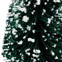 Deko-Tanne beschneit, Weihnachtsdeko, Advent H13cm Ø5,5cm 2St