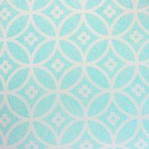Tischläufer mit Muster Hellblau 30cm x 300cm