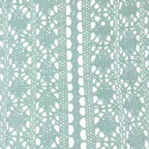 Tischläufer Häkelspitze Mintgrün 30cm x 140cm