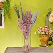 Trockenblumen Exoten Weiß-Rosa Mix Trockenstrauß Set