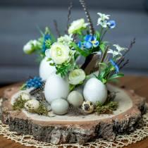 Truthahn Eier Natur 6,5cm 10St
