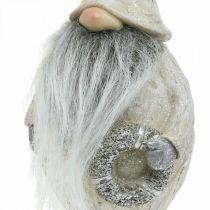 Deko Wichtel mit Bart und Kranz Weihnachtswichtel 14x×12×36cm