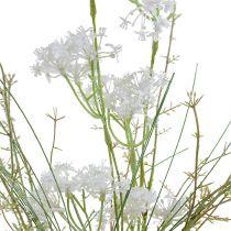 Gartenblumen Weiß L50cm 3St