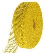Juteband Gelb 5cm 40m