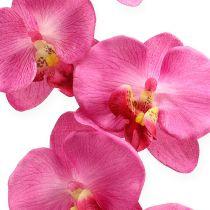 Künstliche Orchidee mit Blättern Pink 68cm