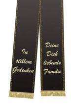 Trauerband bedruckt 125mm x 75cm schwarz