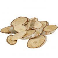 Holzscheiben Birke oval 4cm - 9cm 500g