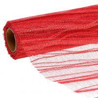 Tischband Rot mit Gold 26cm x 300cm
