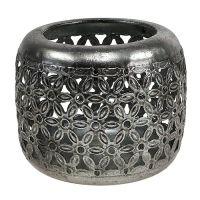 Windlicht Silber Ø11,5cm H9,5cm 1St