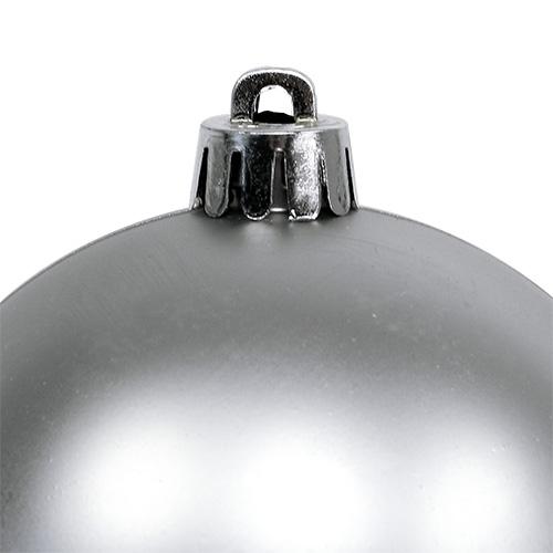 christbaumkugeln plastik silber 8cm 6st kaufen in schweiz. Black Bedroom Furniture Sets. Home Design Ideas