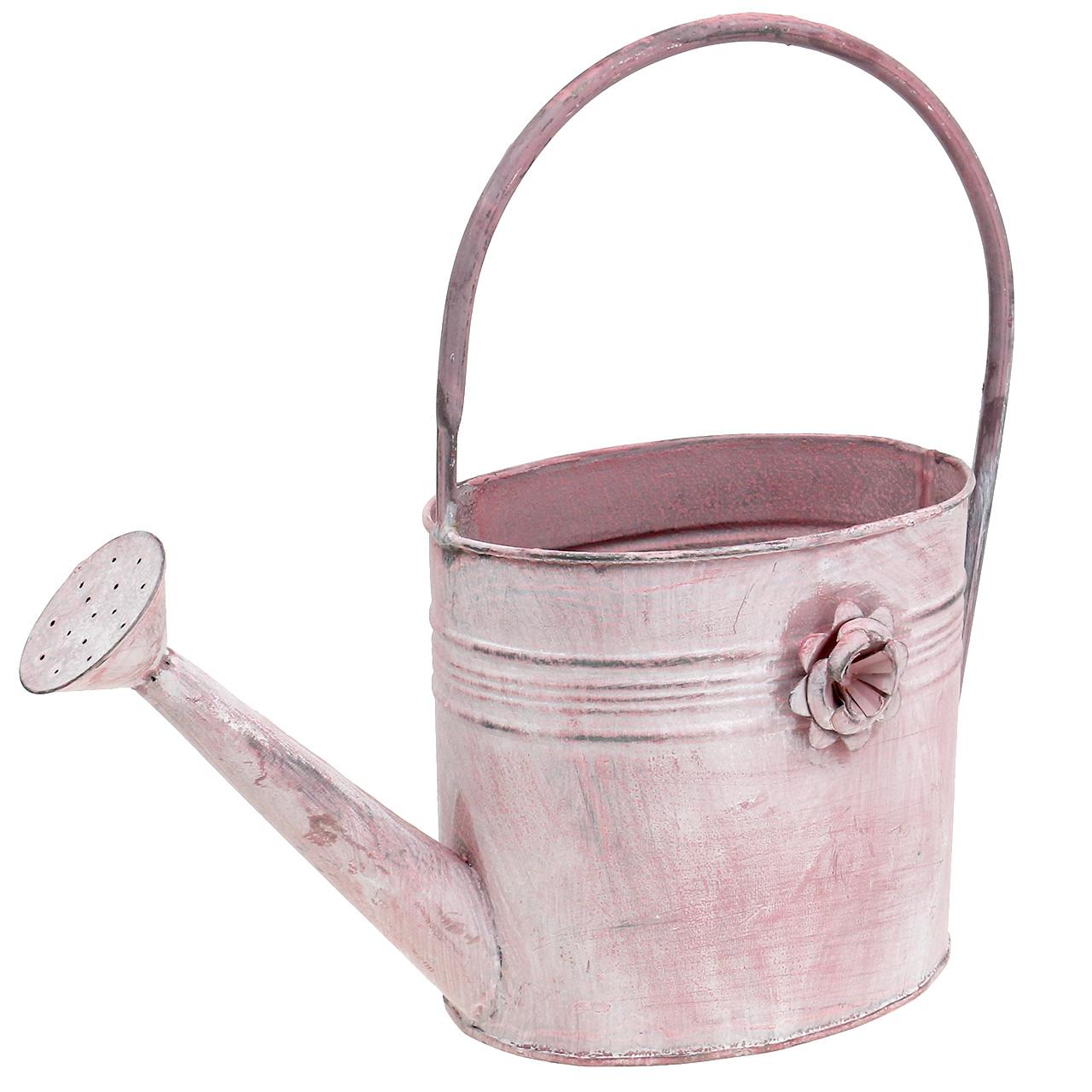 deko gie kanne aus metall rosa l33cm b12cm h29cm kaufen in schweiz. Black Bedroom Furniture Sets. Home Design Ideas