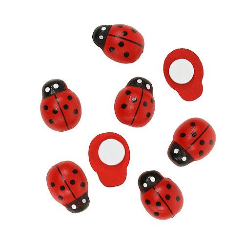 100 Marienkäfer// Käfer// Ladybug Knöpfe in verschiedenen Farben im Mix für Kinder