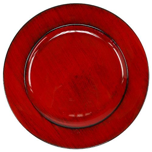 deko teller plastik 28cm rot schwarz kaufen in schweiz. Black Bedroom Furniture Sets. Home Design Ideas