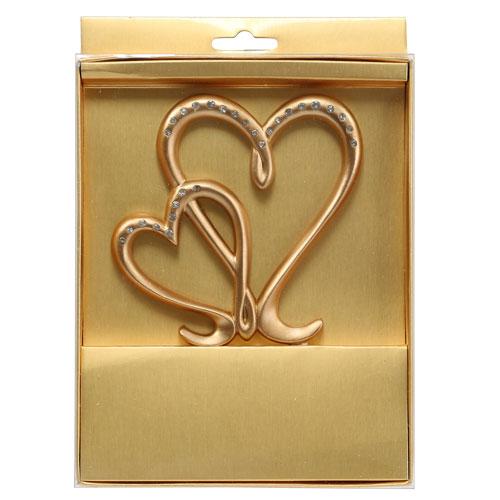 deko herz zum stecken gold 17cm kaufen in schweiz. Black Bedroom Furniture Sets. Home Design Ideas