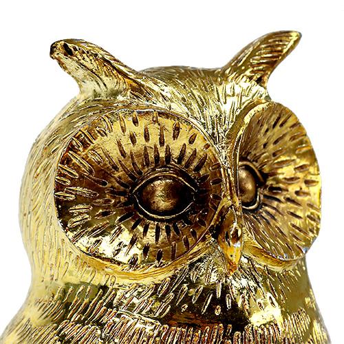deko eule gold gl nzend 12cm 4st kaufen in schweiz. Black Bedroom Furniture Sets. Home Design Ideas