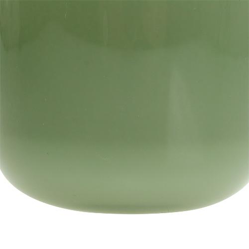 Blumentopf aus glas 12 5cm h11cm moosgr n kaufen in schweiz for Blumentopf glas